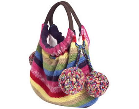 Вязаные летние сумки схемы.  Вязание спицами сумки.
