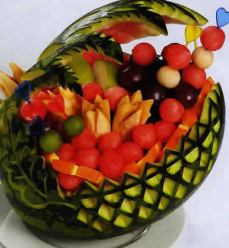 фруктами фото арбуз корзинка с