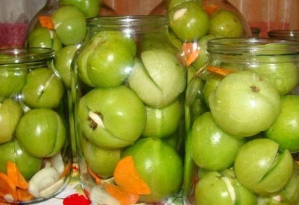 Рецепты засолки зелены помидор