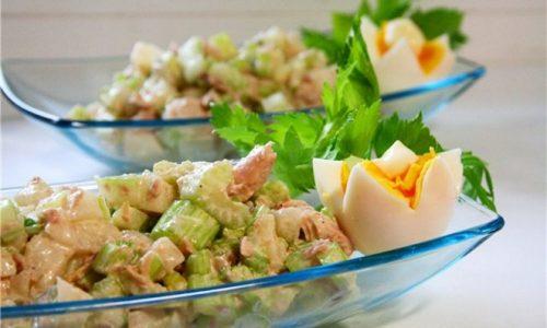 Рыбный салат с сельдереем